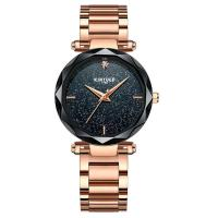 China KINYUED women high quality quartz movement Stainless steel band women waterproof wrist watch on sale