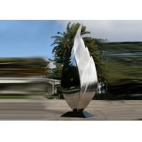 Quality Park Art Decoration Polished Metal Leaf Sculpture Stainless Steel Corrosion Stability wholesale