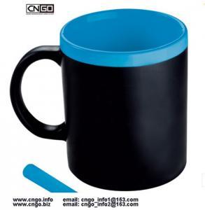 Quality wholesale custom 11oz black Chalk mug Memo mug Write Message mug can erase ceramic mug cup wholesale