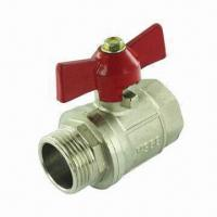 Quality Brass ball valve with butterfly handle wholesale