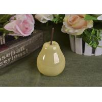 Quality Pearl Glazed Ceramic Pear Dining Kitchen Room Table Centerpiece Fruit Decoration wholesale