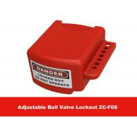 Quality OEM Red Color 3 Lock Holes 210G Adjustable Flanged Ball Valve Lock Out wholesale