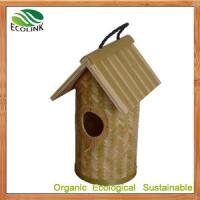 Quality Chinese 100% Natural Bamboo Birdhouse for Garden Decoration and Eco Garden Product wholesale