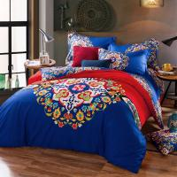 Quality Cotton Hotel Collection 6 Piece Bedding Comforter Sets Embroidered Flower Queen Size wholesale