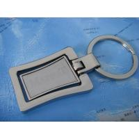 China rectangle key chain, zinc alloy key chain on sale