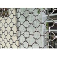 Quality SS304 Decorative Ring Metal Wire Mesh For Partition Wall Fabrication wholesale