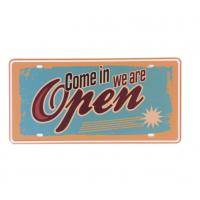 Quality Come in we are Open Store Metal Signs Poster Bar Garage Cafe Door Wall Poster Plates Retro Plaque wholesale