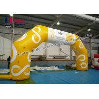 Quality Yellow Inflatable Entrance Arch 8M Inflatable Arch Finish Line With Logo Printing wholesale