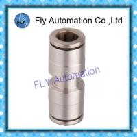 China Straight through the whole copper nickel quick Pneumatic Tube Fittings PU series on sale