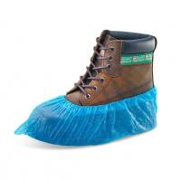 Quality Machine Made Disposable Foot Covers CPE Protective Overshoes With Elastic wholesale