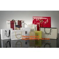 Quality High Quality And Fancy Customized Black Printed Luxury Gift Paper Shopping Bag wholesale