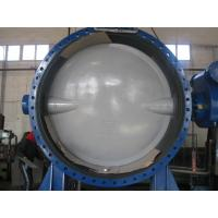China Automatic Double Flanged Butterfly Valves Flanged Resilient Sealing DN2000 on sale