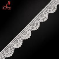 Quality 4.5cm Idth Stretch Trim Embroidery Lace Trim Water Soluble For Underwear wholesale