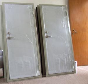 China Customized Thickness Marine Doors Single Leaf Aluminium Hollowed Cabin on sale
