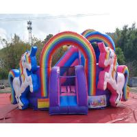 Quality Durable PVC Inflatable Unicorn Bouncy House For Birthday Party Quadruple Stitching wholesale