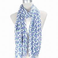 Quality 100% Viscose Printed Scarf with Most Fashionable Colors and Designs for 2013 wholesale