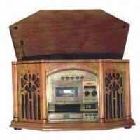 China Classic Nostalgic Music Record Player, CD/AM/FM/Phonograph/Cassette Functions, Stereo, CE/PSE Marks on sale