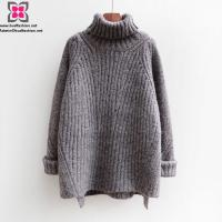 Quality Wholesale Custom Women Knitted Long Sleeve Turtle Neck Warm Sweater for Winter wholesale