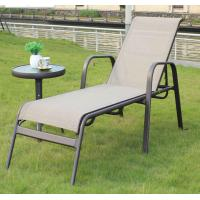 Quality wholesale market online black garden outdoor beach casual foldable ultralight aluminum reclining chair table set wholesale