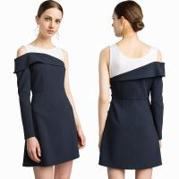 China New Design High Quality Mercer Tank Navy One Shoulder Blazer Classic Style Dress for Women on sale