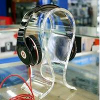 Quality Clear Acrylic Display Holders , 8mm thick headphone display holders wholesale
