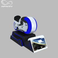 Quality 1 Person Online Race 9D VR Motorcycle Car Driving Simulator Black Or White Color wholesale