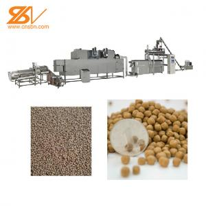 China twin screw extruder for floating fish feed pellet machine on sale