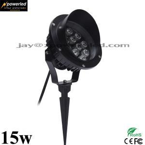 Quality High power big watt ip67 waterproof 15w led garden spike light wholesale