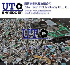 Quality hot sale full automatic E scrap hard drives shredder/ 2 shaft intelligent low noise shredder/ double shaft crusher wholesale