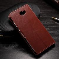 Quality Flexible Huawei Y6 Leather Case , Anti - Slip Crazy Horse Leather Wallet Case wholesale