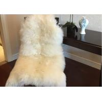 Quality Home Decorative White Real Sheepskin Rug Long Merino Wool 60 X 90cm Natural Shape  wholesale