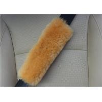 Quality Washable Padded Seat Belt Cover , Breathable Brown Seat Belt Pads For Adults  wholesale