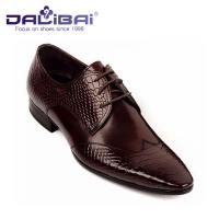 Quality Mens Leather Dress Shoes Italian Casual Formal Work Shoes With Pointed Toe wholesale