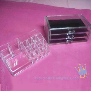 Quality acrylic drawers cosmetic organizer wholesale
