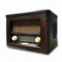 China Multifunction Radio with CD Player and Real-wood Hand Crafted Cabinet on sale