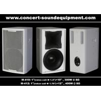 Quality Bass Reflex Full Range Nightclub Sound Equipment 96dB 97dB Black / White Finish wholesale