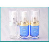 Quality 20 ML Oval Shape PMMA Acrylic Lotion Pump Bottle For Cosmetic Essence wholesale