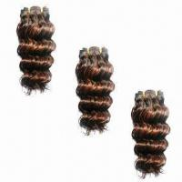 China Brazilian Hair Extentions, Customized Textures/Colors/Weights are Accepted, Made of 100% Human Hair on sale