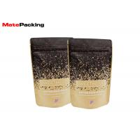 Cheap Flat Bottom Kraft Paper Food Bags Resealable Stand Up Aluminum Foil Lined Coated for sale