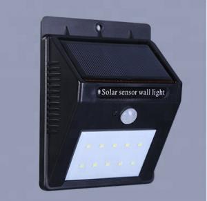Quality 5v Solar panel powered 10 Leds Motion Sensor LED Outdoor Wall Light wholesale
