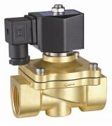 Quality 24VDC Brass Electric Water Solenoid Valve 2 Way Zero Differential Pressure wholesale