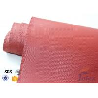 "Quality Red Silicone Coated Fiberglass Fabric Engine Thermal Insulation 1mm 30oz 39"" wholesale"