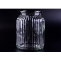 Quality Clear Tall Soy Glass Bottle Candle Holders / 1000ml Glass Candlestick Holders wholesale