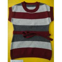 Quality 100 Cotton Knitted Kids Pullover Sweater , Crew Neck Girls Winter Sweater wholesale