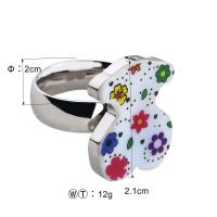 Quality Flower Design Stainless Steel Ladies Rings With Shell Jewelry OEM / ODM Available wholesale