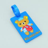 Quality 2014 bear logo Custom blue 10.5*5.5*0.5 cm luggage tag wholesale