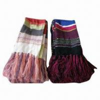 Quality knitting scarves, Made of 100% Acrylic Island Yarn, Various Colors are Available wholesale