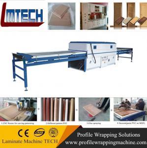 China modern mdf high gloss kitchen cabinet door vacuum membrane press machine on sale