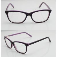 Cheap Purple & Black Vintage Oval Women Acetate Glasses Frames With Lightweight for sale