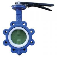 Quality EPDM Seated Manual Lug Butterfly Valves Wafer Type For Ship Building / Textile wholesale